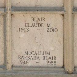 Barbara A <I>Blair</I> McCallum