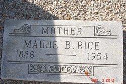 Maude Pearl <I>Barker</I> Rice
