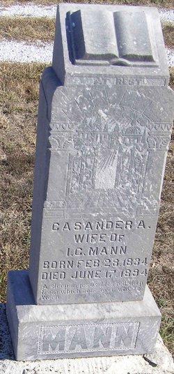 Cassandra A. <I>Hicks</I> Mann