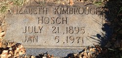 Elizabeth <I>Kimbrough</I> Hosch