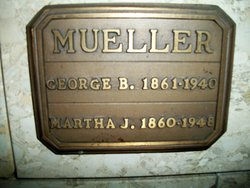 Martha Jennie <I>Fricker</I> Mueller