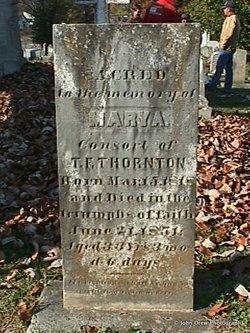 Mary Anderson <I>Blackburn</I> Thornton