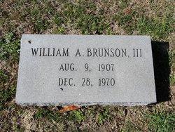 William A Brunson, III