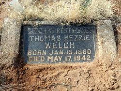 """Thomas Hezekiah """"Hezzie"""" Welch"""