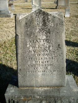 "Martha Wright ""Mattie"" <I>Cave</I> Craig"