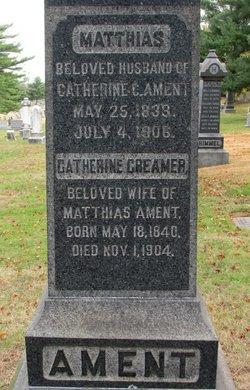 Catherine <I>Creamer</I> Ament