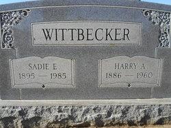 Sadie E. <I>Backus</I> Wittbecker