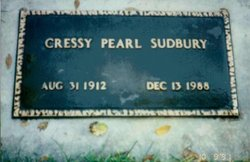 Pearl Cressy <I>Mitchell</I> Sudbury
