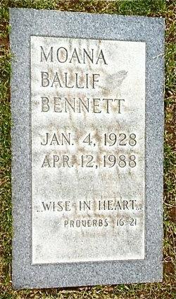Moana <I>Ballif</I> Bennett
