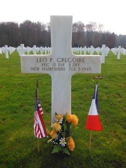 PFC Leo P Gregoire