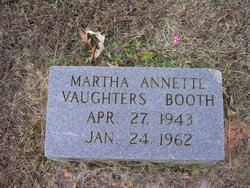 Martha Annette <I>Vaughters</I> Booth