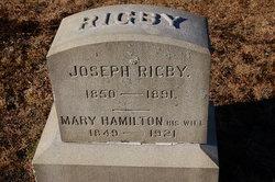 Mary <I>Hamilton</I> Rigby