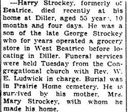 Harry A Strockey