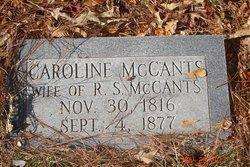 Caroline Isabella <I>Davis</I> McCants