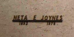 Neta E Joynes