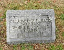 Florine <I>Hamlin</I> Critchley