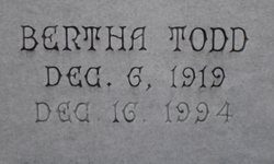 Bertha <I>Todd</I> Paul