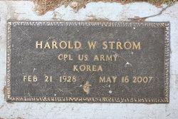 Harold W Strom