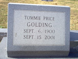 """Tommie Price """"T.P."""" Golding"""