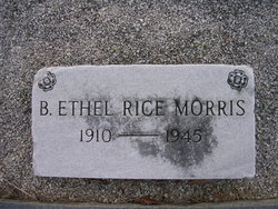 B Ethel <I>Rice</I> Morris