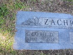 Carmel <I>Davis</I> Zachry