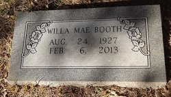 Willa Mae <I>Rudder</I> Booth