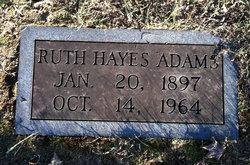 Ruth Beatrice <I>Hayes</I> Adams