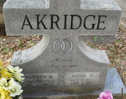 Annie <I>Horton</I> Akridge