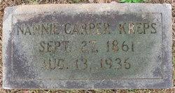 Nannie Bell <I>Carper</I> Kreps