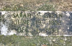 Sarah Ann <I>Lee</I> Green