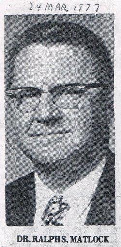 Dr Ralph Steele Matlock