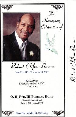 "Robert Clifford ""Bobby"" Brown"