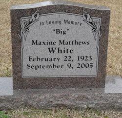 Maxine <I>Matthews</I> White