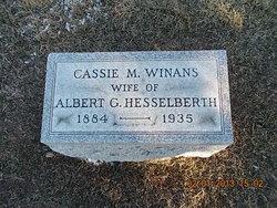 Cassie M <I>Winans</I> Hesselberth
