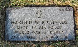 Harold W Richards