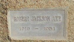 """Robert Jackson """"Black"""" Ake"""