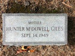 Hunter <I>McDowell</I> Giles