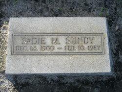 """Sarah Margaret """"Sadie"""" Sundy"""
