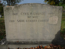 Sadie <I>Eisener</I> Embree