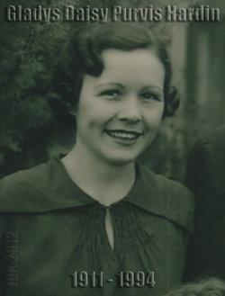 Gladys Daisy <I>Purvis</I> Hardin