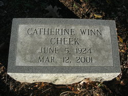 Catherine Louise <I>Winn</I> Cheek