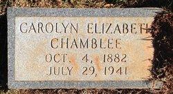 """Carolyn Elizabeth """"Carrie"""" <I>Veal</I> Chamblee"""