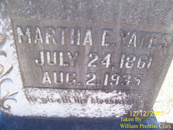 Martha Ellen <I>King</I> Yates
