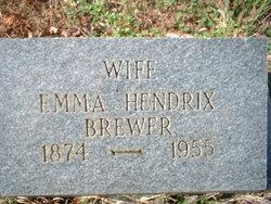 Emma S. <I>Hendrix</I> Brewer