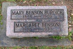 Mary <I>Benson</I> Burdick
