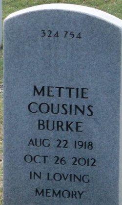 Mettie M <I>Cousins</I> Burke