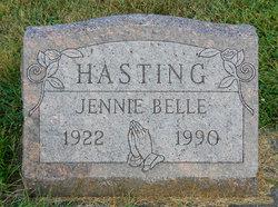 Jennie Belle <I>Miller</I> Hasting