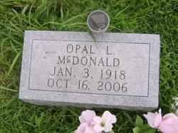 Opal Lucille <I>Jackson</I> McDonald