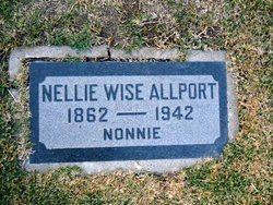"Nellie Edith ""Nonnie"" <I>Wise</I> Allport"
