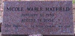 Nicole Annie <I>Wable</I> Hatfield